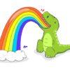 Tyranozaur wymiotujący tęczą - wzór na kubek