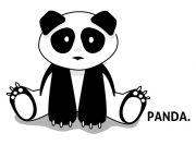 Siedząca Panda Wzór
