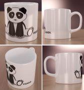 Siedząca Panda Wizualizacja Kubków