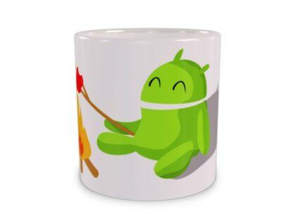 Android przy ognisku Duży Kubek