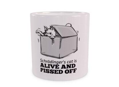 Żywy Kot Schrödingera Duży Kubek Wizualizacja