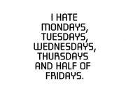 I hate Mondays… wzór kubka
