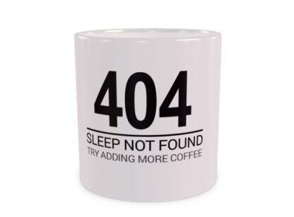 404 snu nie odnaleziono - wizualizacja kubka