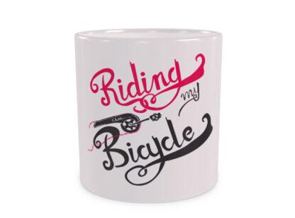 Riding on my Bicycle Wizualizacja Duży Kubek