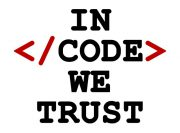In code we trust – wzór kubka