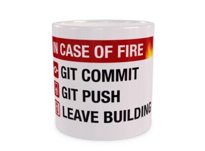 In Case of Fire Śmieszny Kubek dla Programisty
