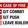In Case of Fire Wzór na Kubek dla Programisty