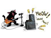 Kot Muzyk Wzór na Kubek
