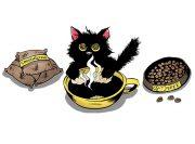 Kofeinowy Kotek Wzór na Kubek