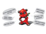Deadpool Panda Wzór na Kubek