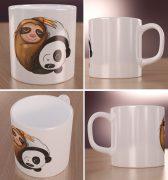 Panda z Leniwcem Wizualizacja Kubków