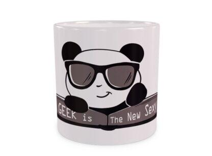 Panda Geek Duży Kubek Wizualizacja