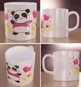 Słodka Panda Wizualizacja Kubków