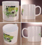 I turn coffee into code Wizualizacja Kubków