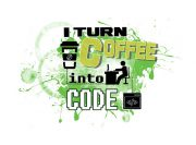 I turn coffee into code Wzór na Kubek