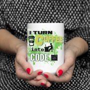 I turn coffee into code Zdjęcie