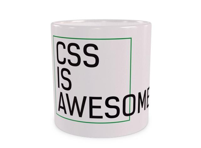 CSS is awesome Duży Kubek Wizualizacja