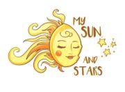 My Sun and stars Wzór na kubek
