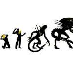 Wzór na Kubek Alien Ewolucja